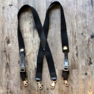 x-back black snap suspenders-nickle